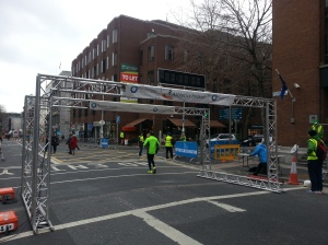 The start and finish gantry